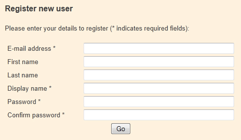 User Registration Field